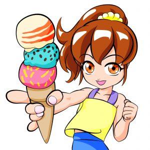 アイスクリームと少女