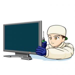 テレビの修理・画面映り無