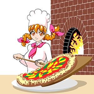 ピザ職人-女性